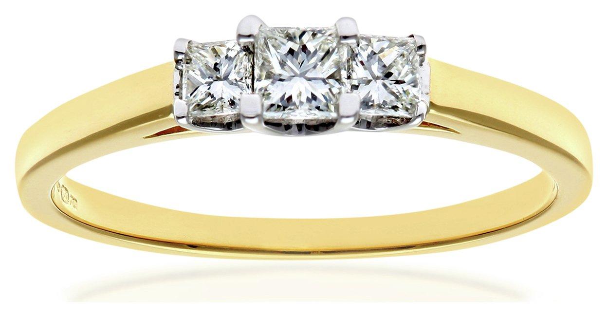 Everlasting Love - 18 Carat White Gold 025 Carat Diamond - Princess Cut Diamond - Ring - W