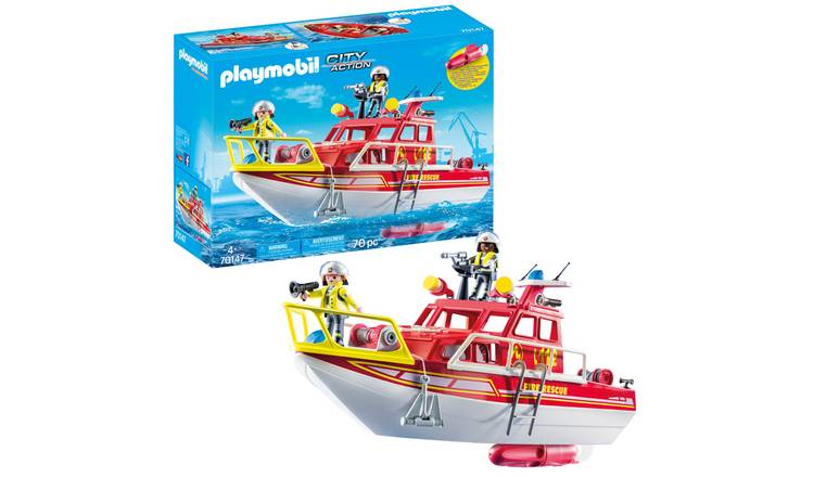 Playmobil 71047 Fire & Rescue Boat Playset