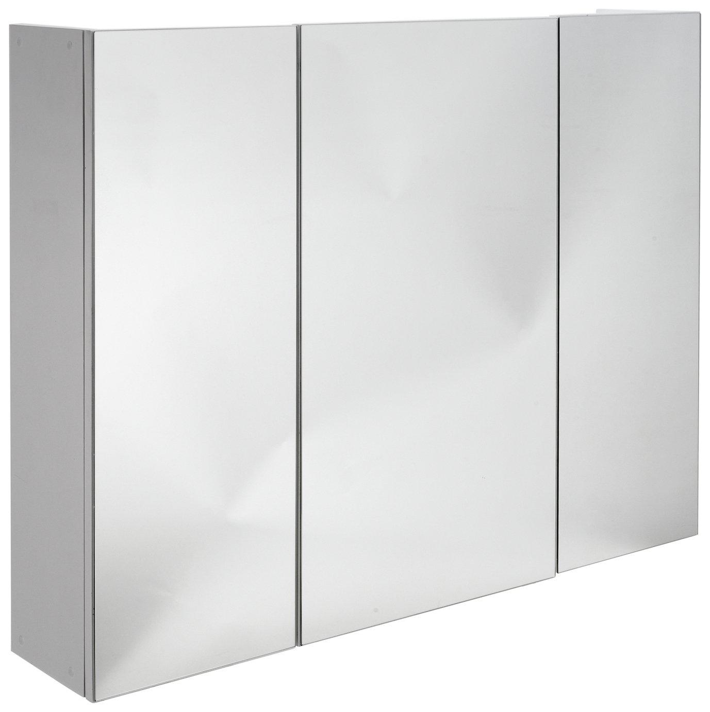 Argos Home 3 Door Mirrored Cabinet - White