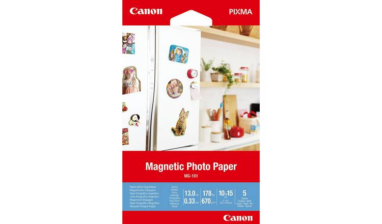 Canon MG-101 6x4 Inch Magnetic Photo Paper - 5 Sheets