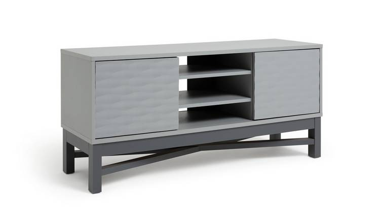 Argos Home Zander Textured TV Unit - Grey