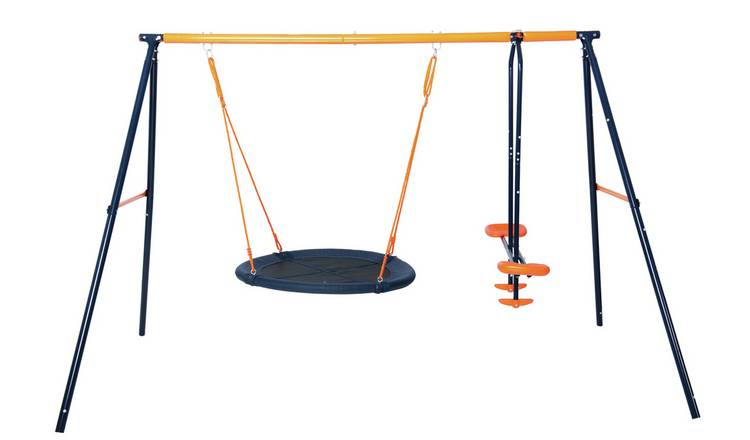 Hedstrom Nebula Kids Outdoor Glider and Swing Set