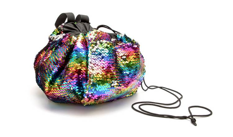 Rio Sequin Draw String Beauty Essentials Bag - Large