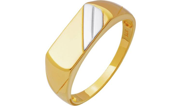 Revere 9ct Gold Multi Coloured Signet Ring - Z