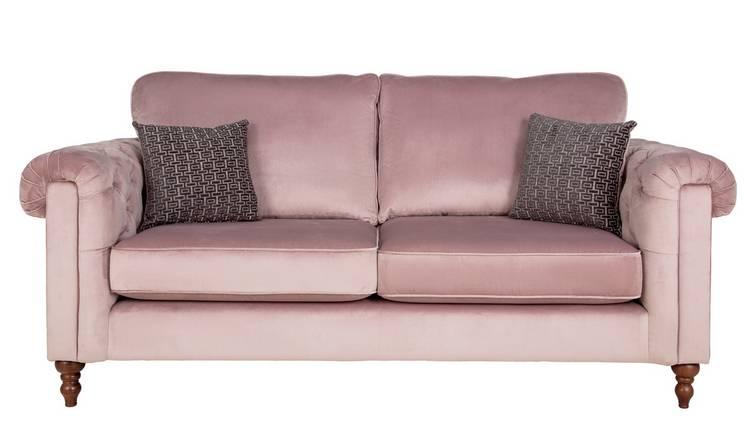 Excellent Buy Argos Home Rebecca 3 Seater Fabric Sofa Blush Sofas Argos Pdpeps Interior Chair Design Pdpepsorg