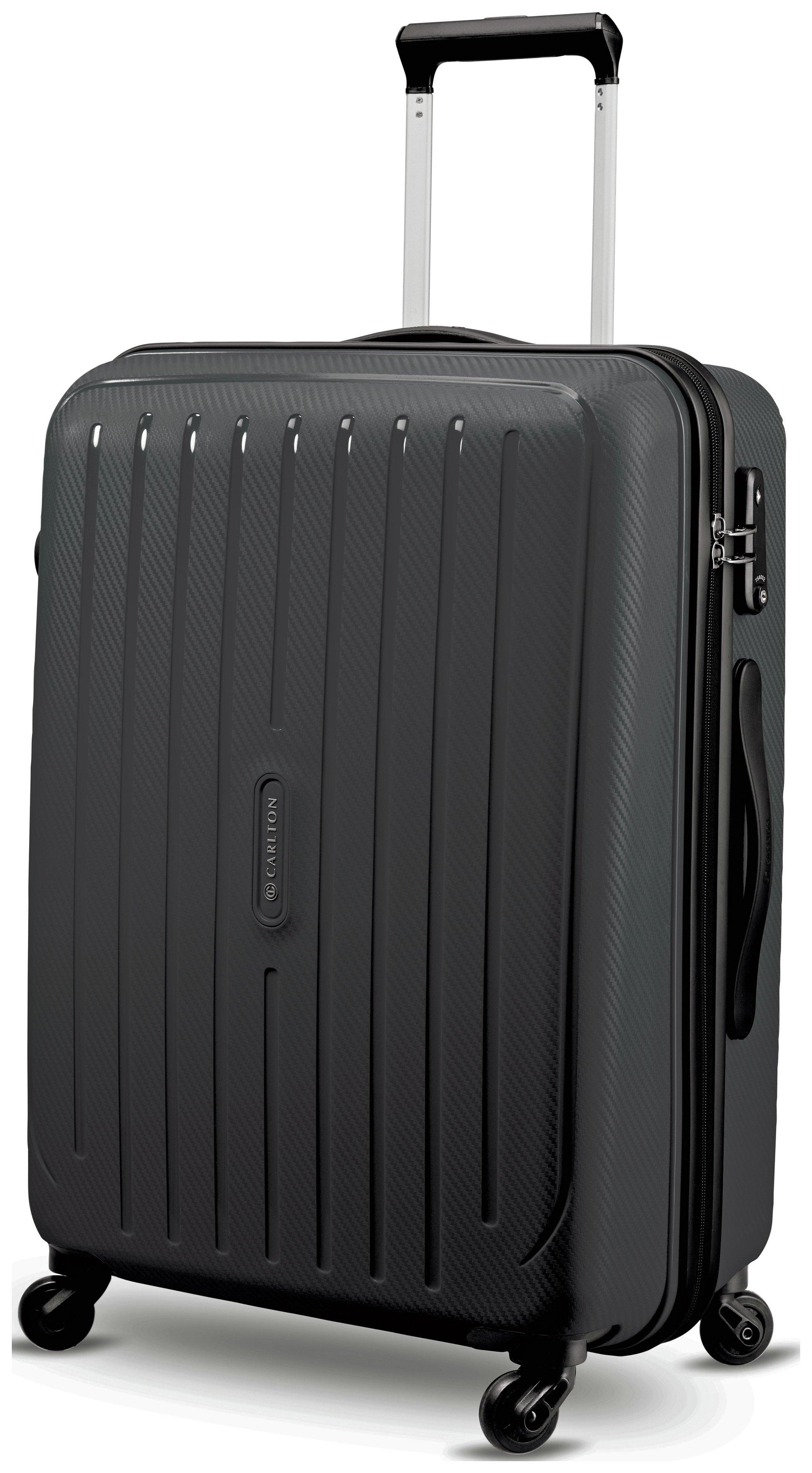 Image of Carlton - Pheonix Medium 4 Wheel Hard Suitcase - Black
