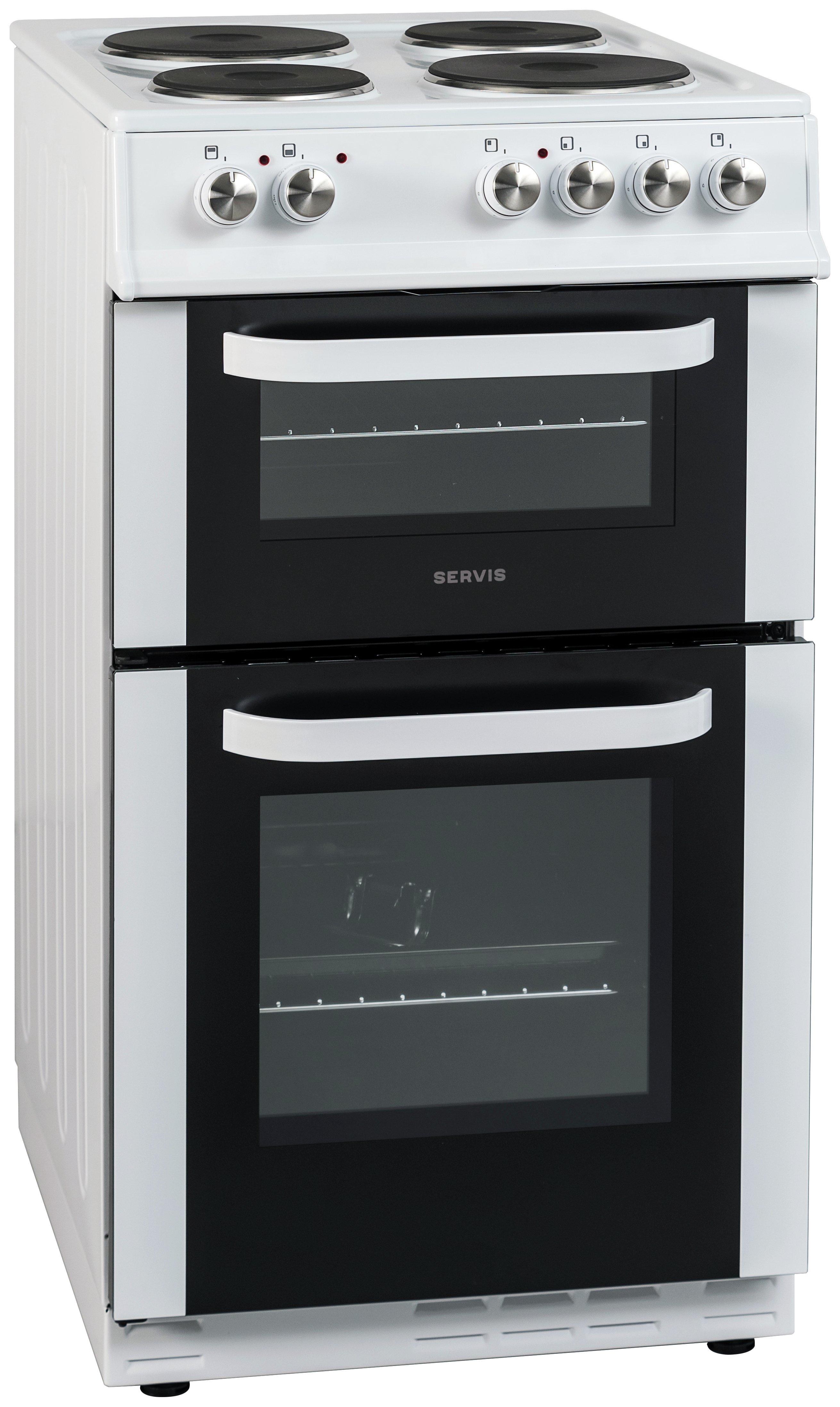 servis dc60w electric cooker white. Black Bedroom Furniture Sets. Home Design Ideas