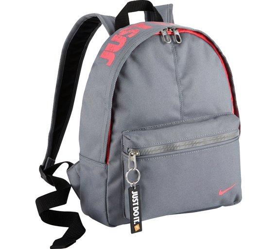 Loading zoom  Buy Nike Mini Black Backpack - Pink and Grey at Argos.co.uk  ...