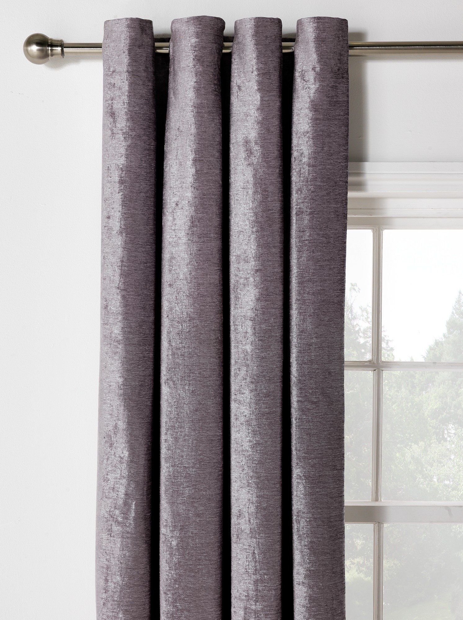Beaded door curtains argos - Heart Of House Abberley Blkout Lined Curtains 168x228 Grey