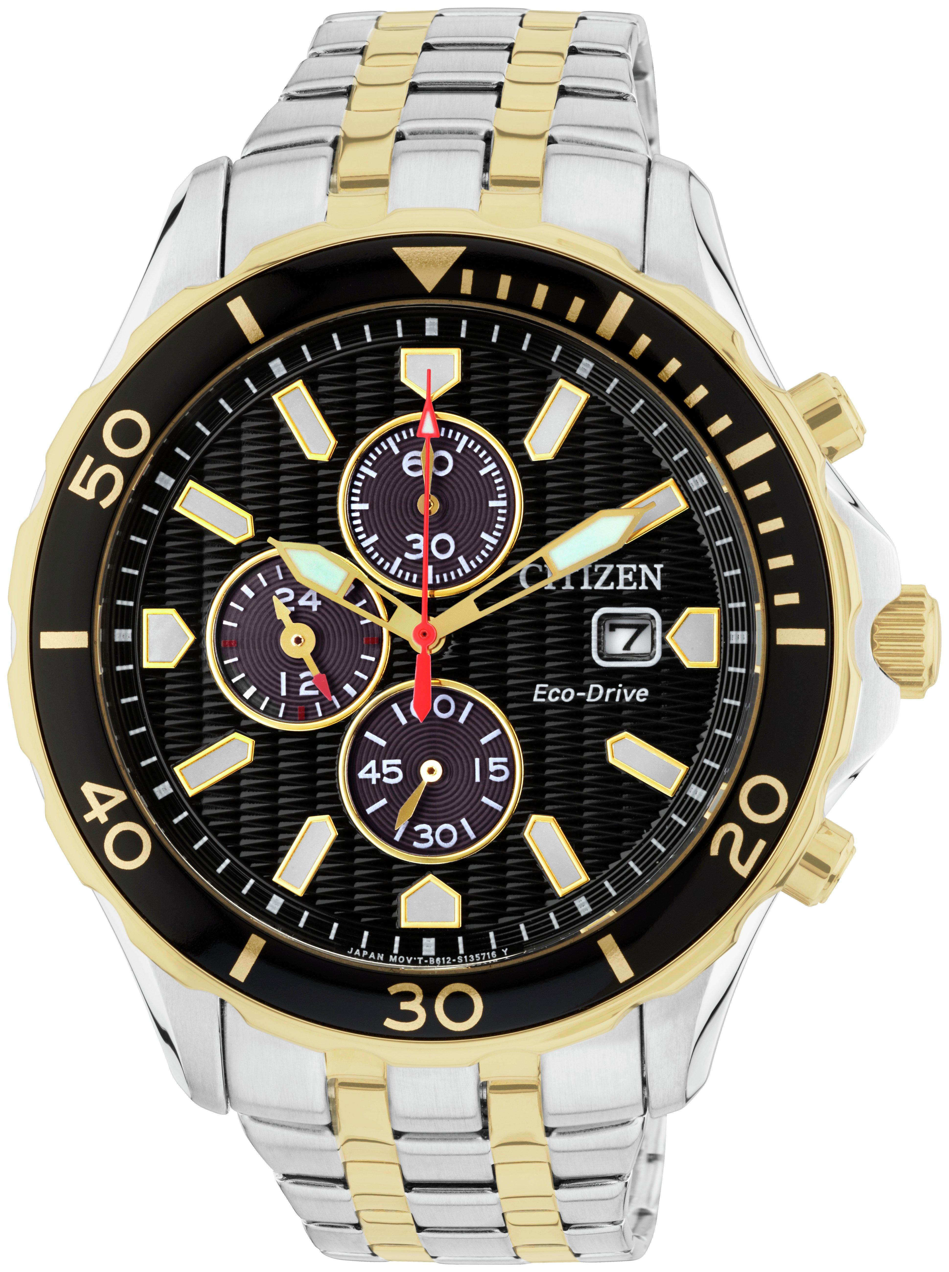 Citizen Eco-Drive Men's Two Tone Fixed Bezel Watch