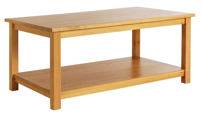 Argos Home Porto Solid Wood Coffee Table - Oak Effect