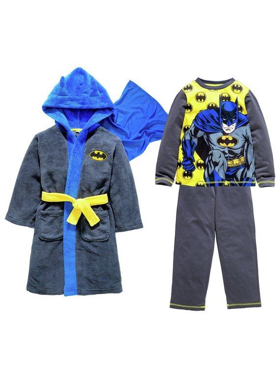 Buy Batman Robe and Pyjamas - 3-4 Years   Nightwear and slippers   Argos