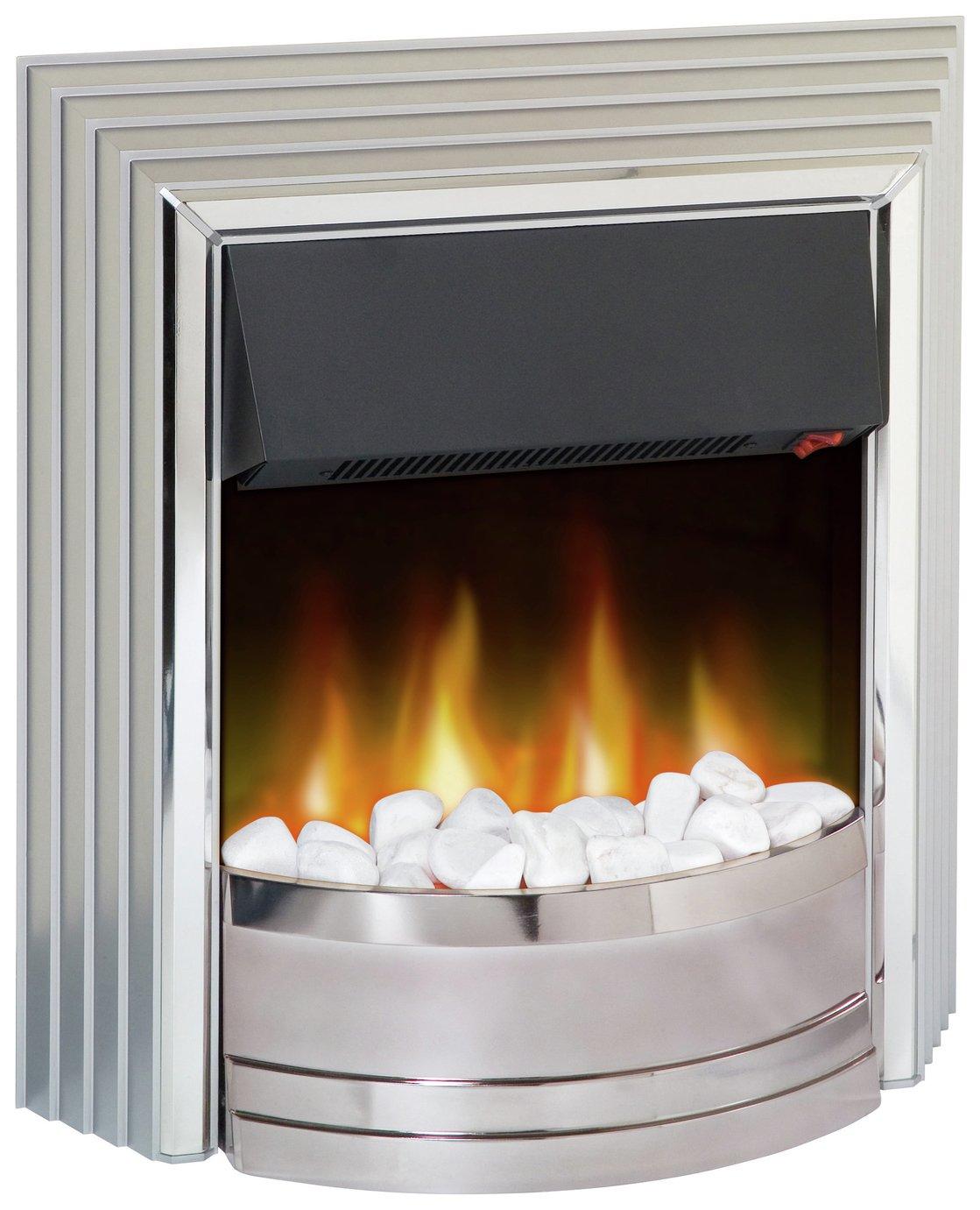 Dimplex Castillo 2kW Electric Freestanding Fire - Silver