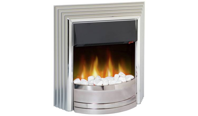 Dimplex Castillo 2kW Electric Freestanding Fire - Silver