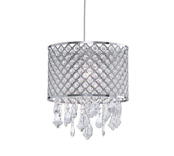 Buy Argos Home Tayten Glass Beaded Chandelier - Chrome | Ceiling and ...