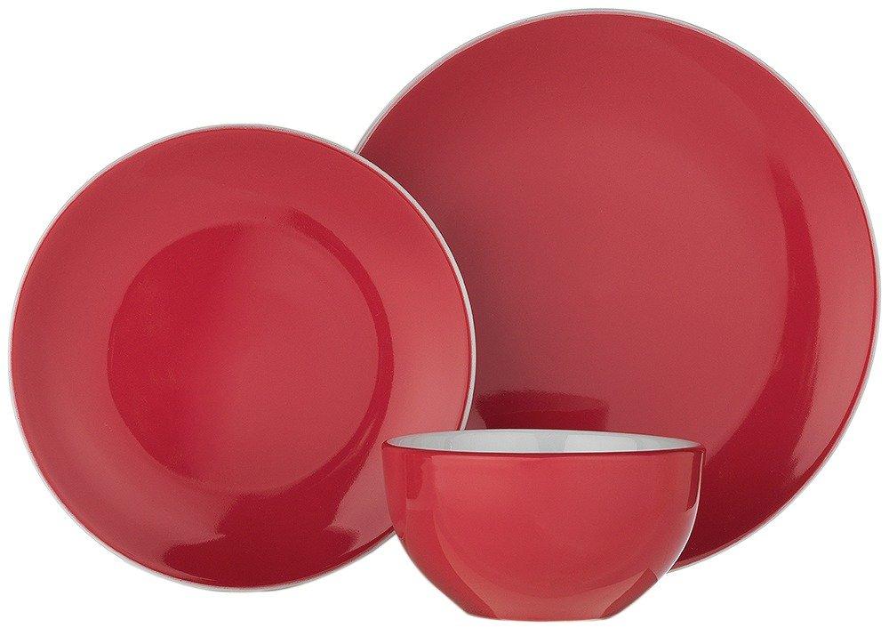 Argos Home 12 Piece Stoneware Dinner Set - Poppy Red