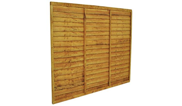 Forest 5ft (1.52m) Trade Lap Fence Panel - Pack of 3