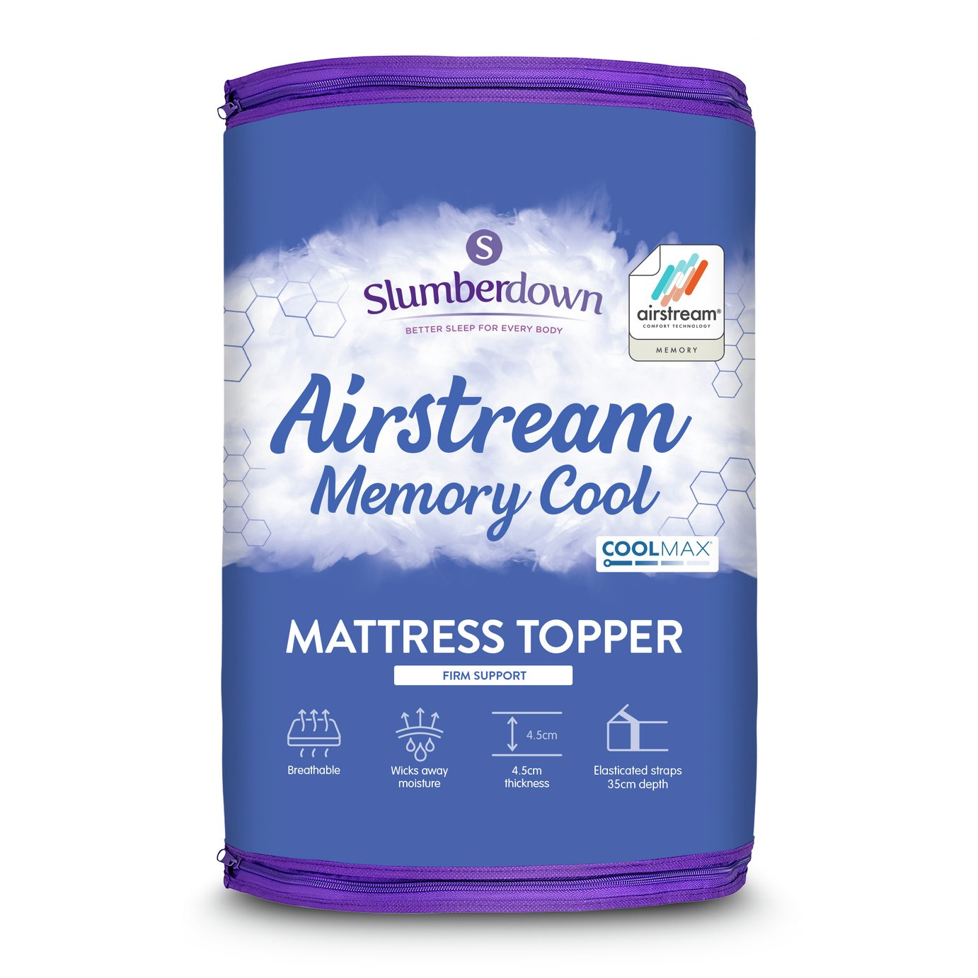 Slumberdown Airstream Memory Fibre Mattress Topper - Single