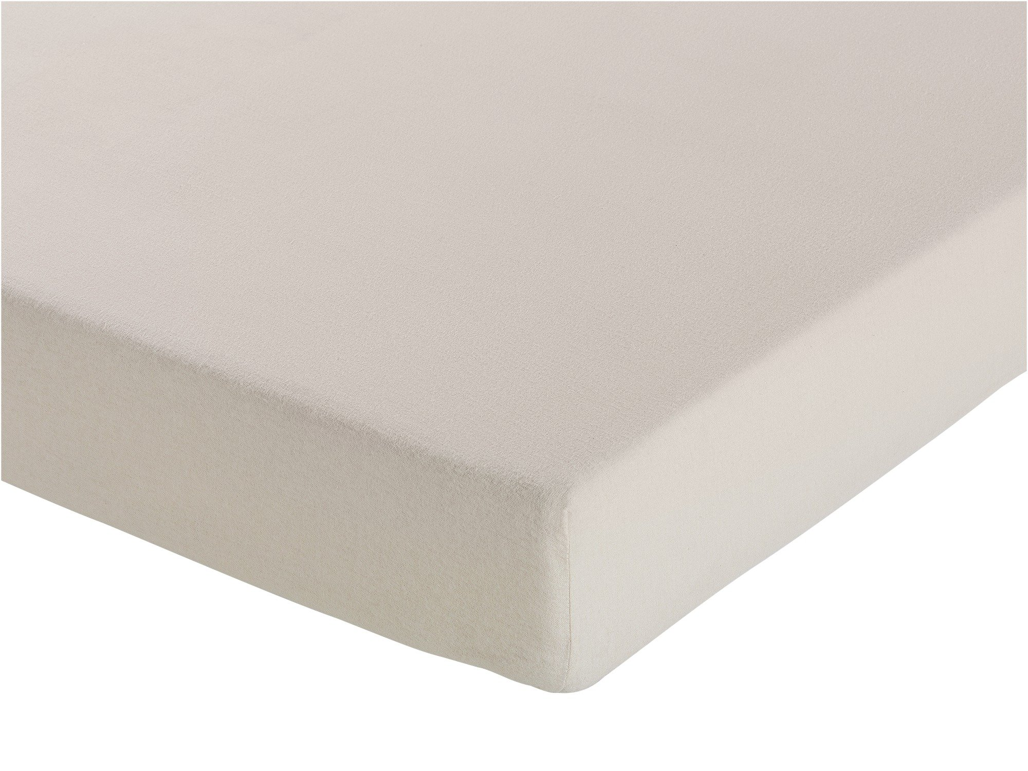Collection - Cream Brushed Cotton Fitted - Sheet - Kingsize