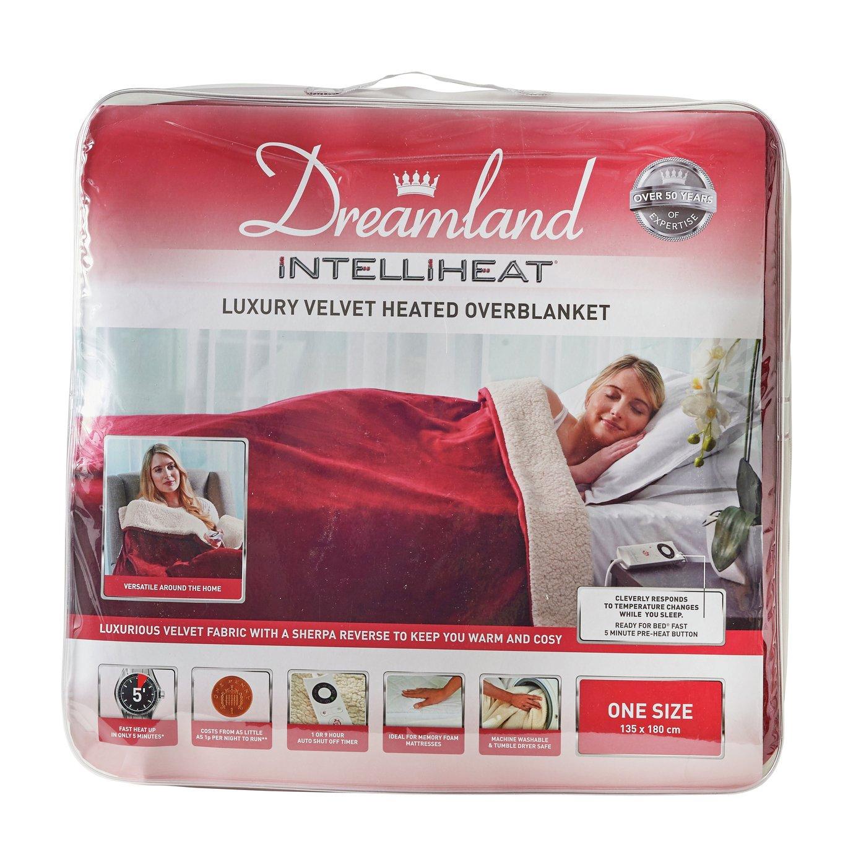 relaxwell by dreamland  intelliheat sherpa wine heated throw