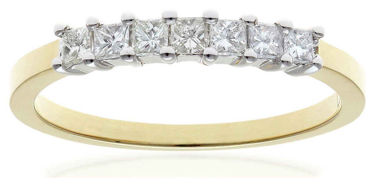 Everlasting Love - 18 Carat White Gold 05 Carat Diamond - Princess Cut Diamond - Ring - J