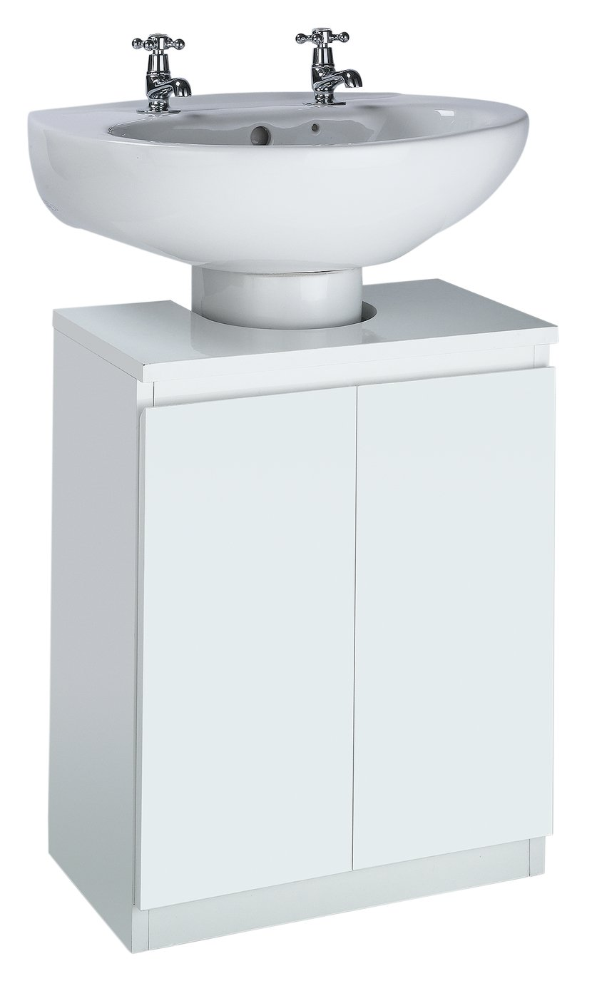 Buy Hygena Gloss Undersink Storage White at Argoscouk Your