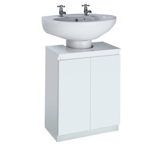 Storage For Under Bathroom Sink: Buy Hygena Gloss Undersink Storage