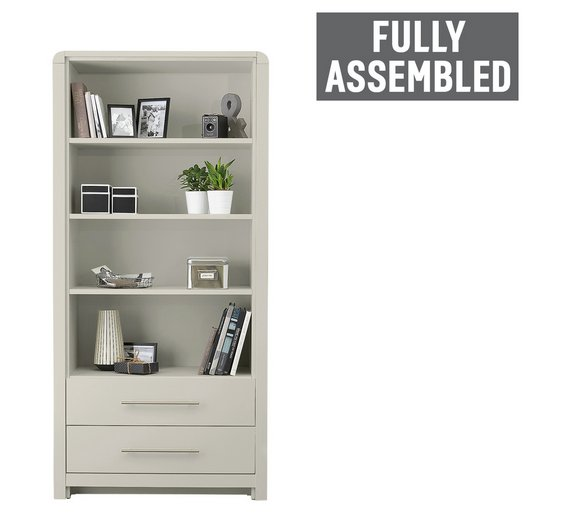 home stores bookcases washed storage door bookcase adjustable furniture medium products leader grey effect corona with core pine shelves