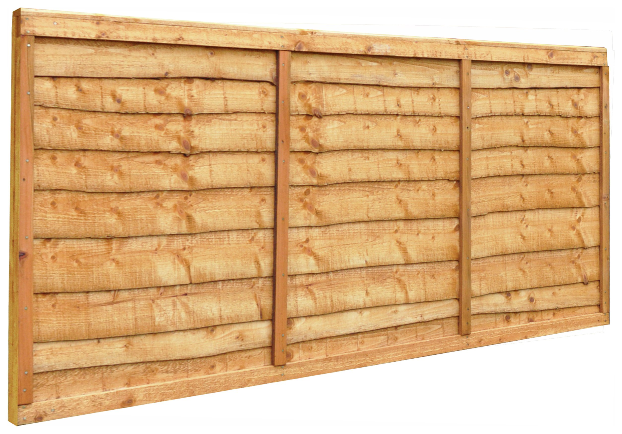 Forest Closeboard Fence Panels - Pack of 4.