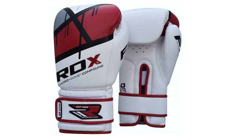 RDX Synthetic 16oz Leather Boxing Gloves - Red