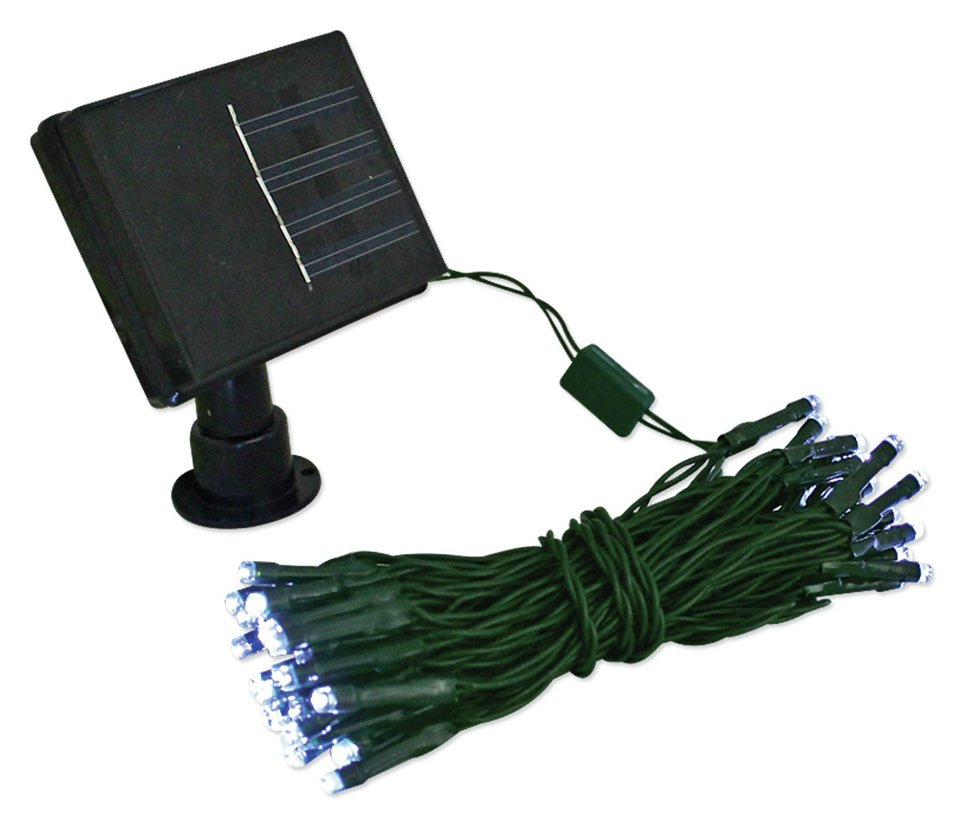 Gardenkraft - 100 Bright White LED Solar String Lights