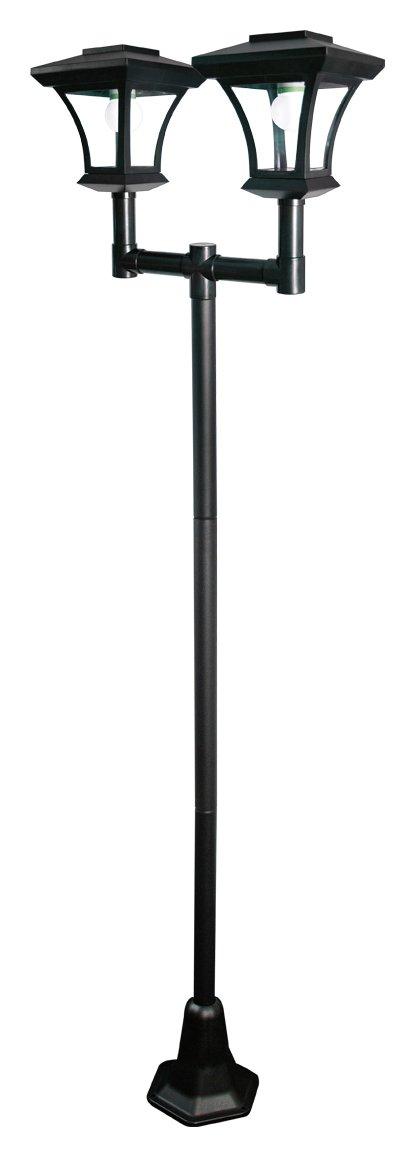 Image of Gardenkraft Twin Head Solar Lamp Post.