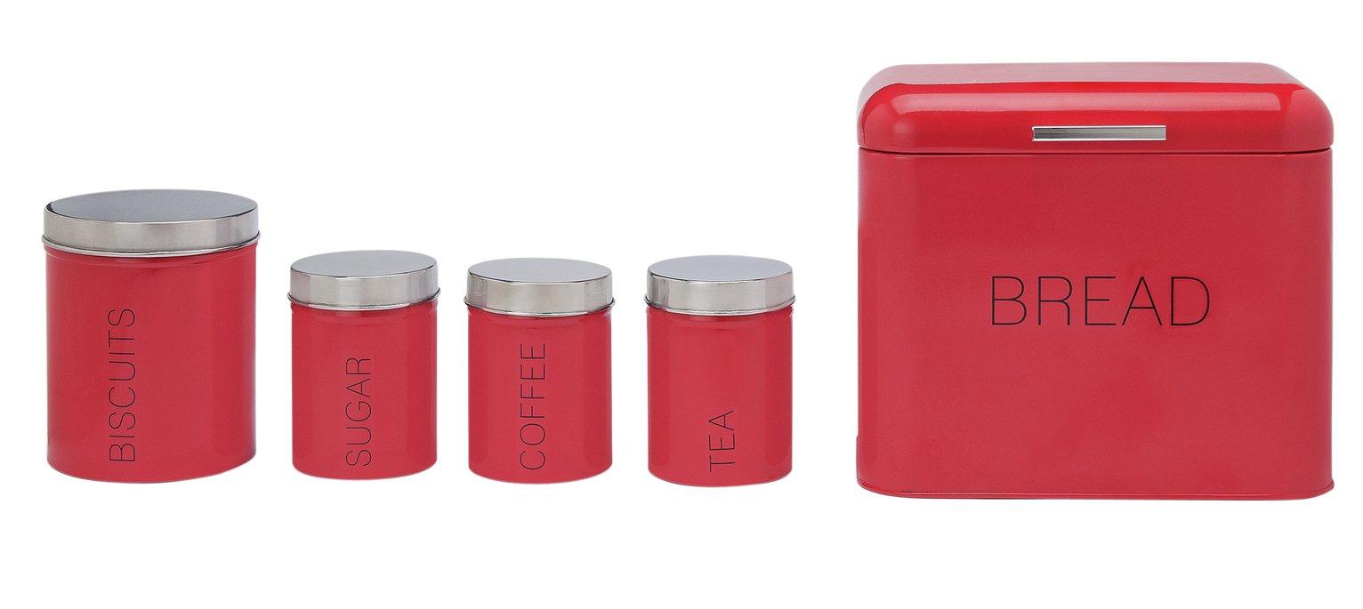 Image of ColourMatch - 5 Piece Kitchen Storage Set - Poppy Red