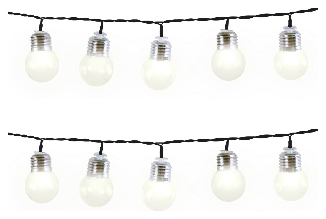 Gardenkraft - 50 Warm White LED String Lights