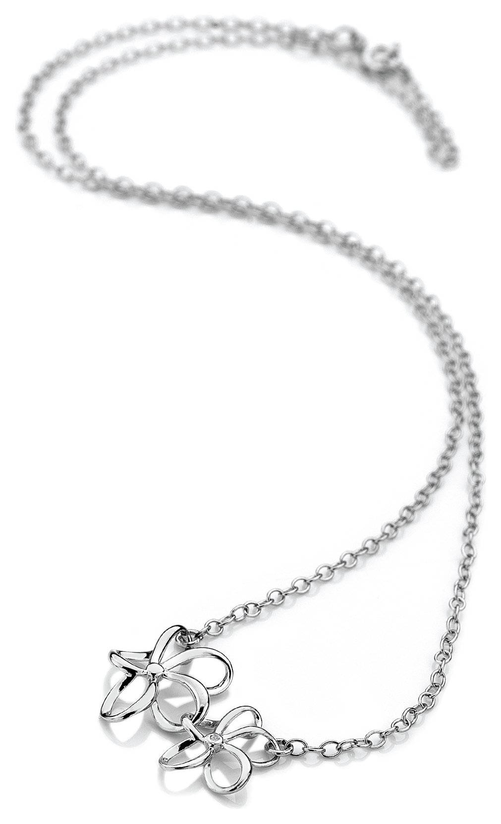 Image of Accents by Hot Diamonds - Silver Open Flower Necklace.
