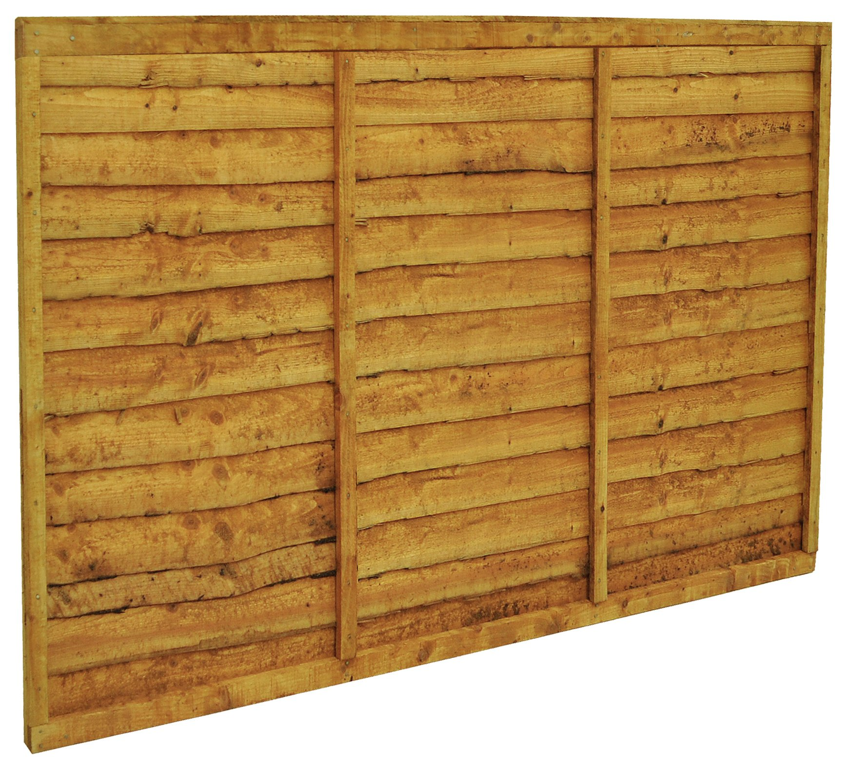 Forest Larchlap Closeboard Fence Panel - Pack of 4. lowest price