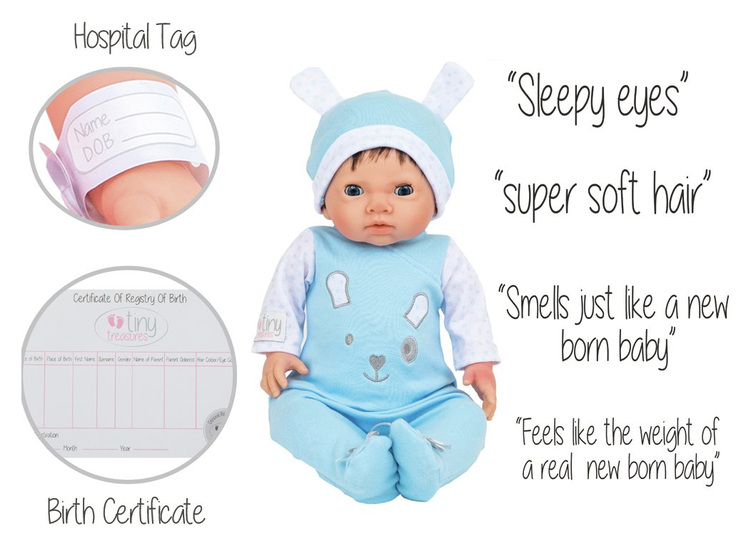 Buy Chad Valley Tiny Treasures Newborn Doll with Blue ...