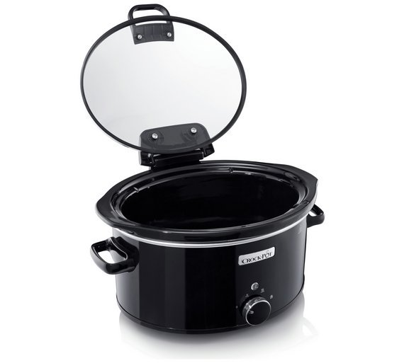 Image of Crock-Pot - 57L Hinged Lid - Slow Cooker - Black