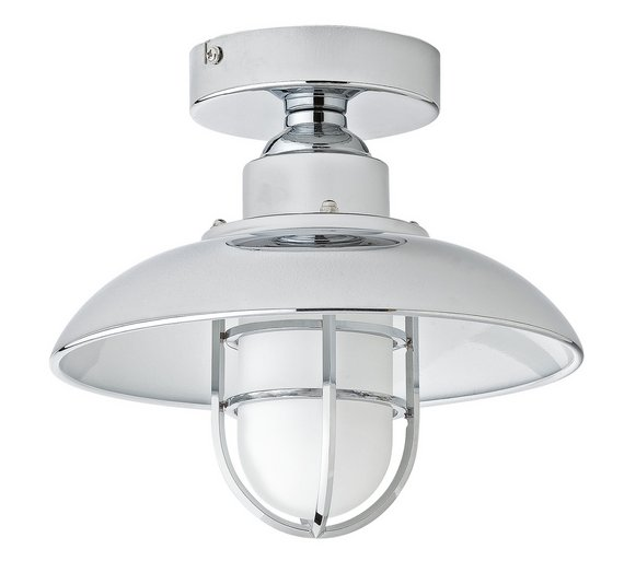 Buy Argos Home Kildare Fisherman Lantern Bathroom Light - Nickle ...