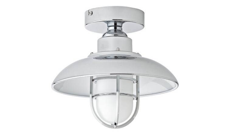 Argos Home Kildare Fisherman Lantern Bathroom Light - Nickle