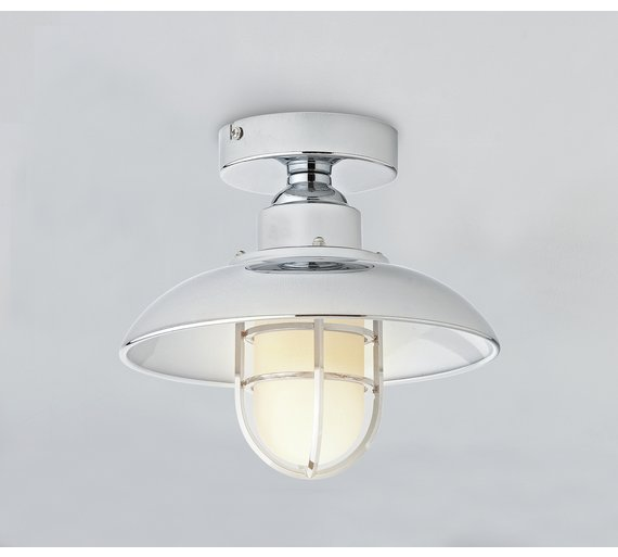 Bathroom ceiling lights at argos : Buy collection kildare fisherman lantern bathroom light at
