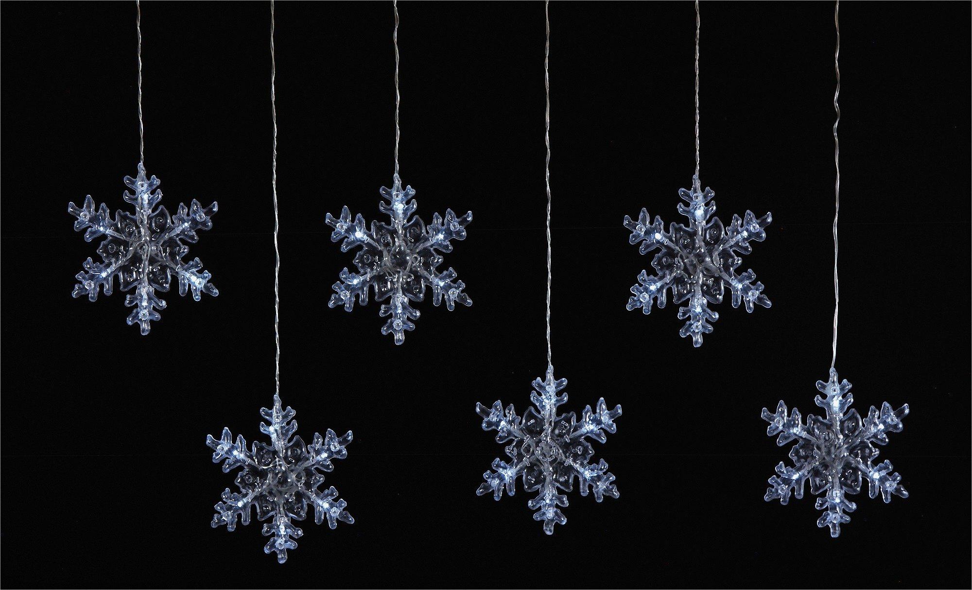6 Snowflake Window Lights