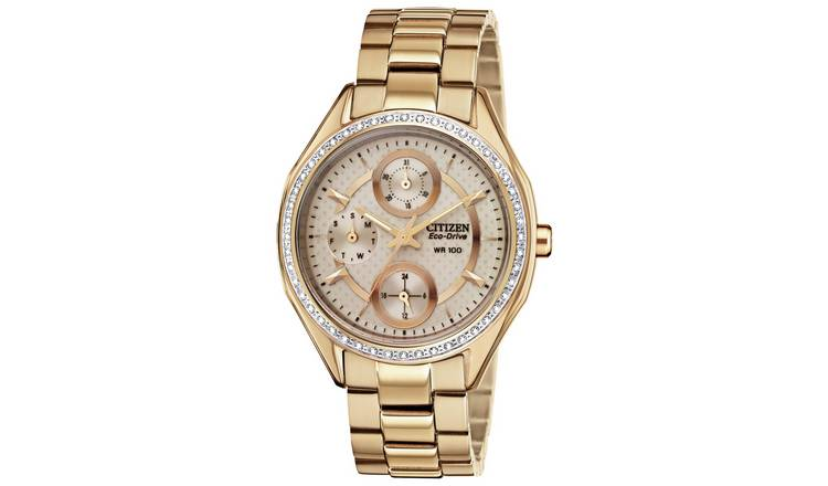 Citizen Ladies Rose Gold Coloured Stainless Steel Watch