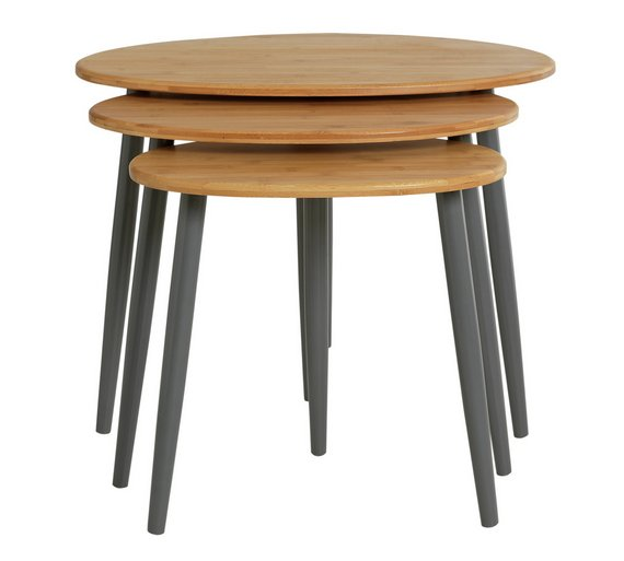 buy collection nest of 3 tables bamboo at. Black Bedroom Furniture Sets. Home Design Ideas