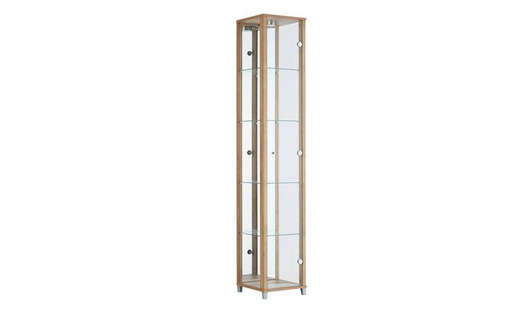 Argos Home 1 Glass Door Display Cabinet - Oak Effect