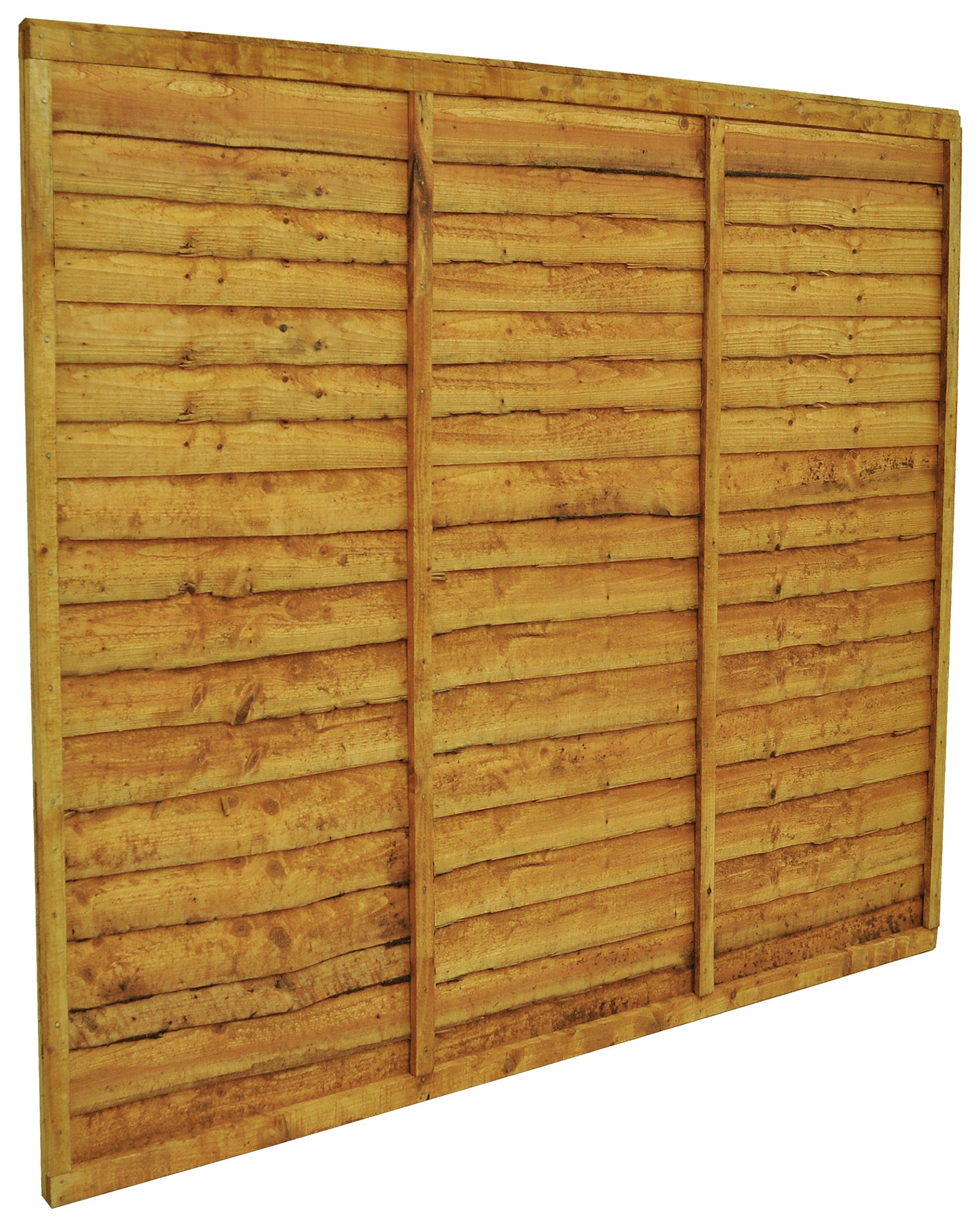 Forest Overlap Fence Panel - Pack of 6. lowest price