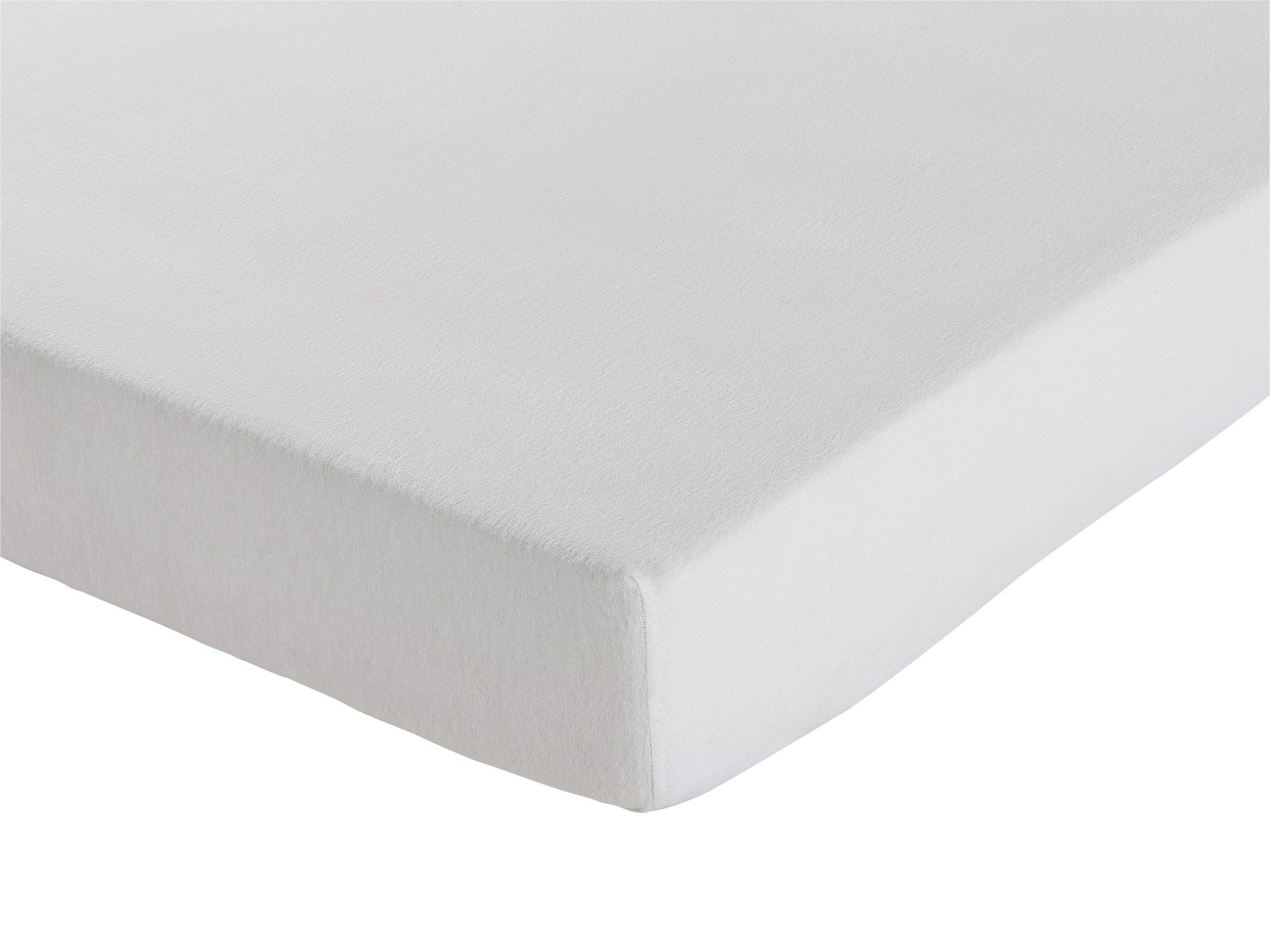 Collection - White Brushed Cotton Fitted - Sheet - Double