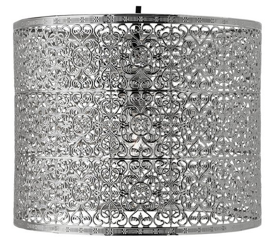 Collection Firenze Fretwork Pendant Shade - Nickel.
