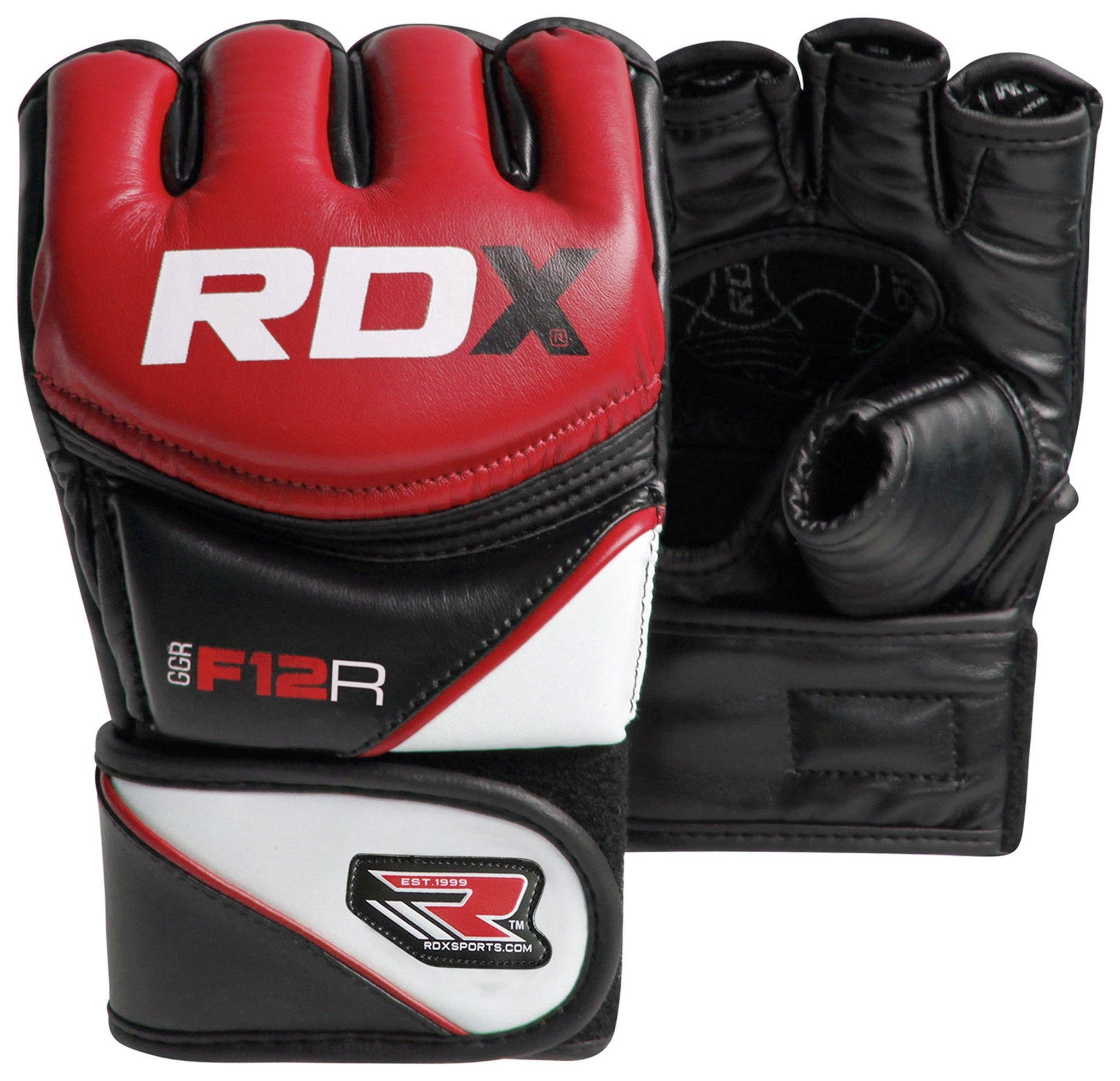 RDX - Synthetic Leather MMA Gloves Red - Medium/Large lowest price