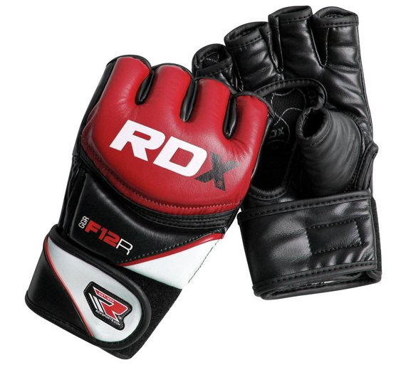 Fitness Gloves Argos: Buy RDX Synthetic Leather MMA Gloves Red